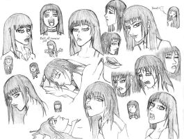 Expressions of a dream girl by Lomebririon