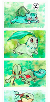 Pokemon Grass Starters by Eyeless1703
