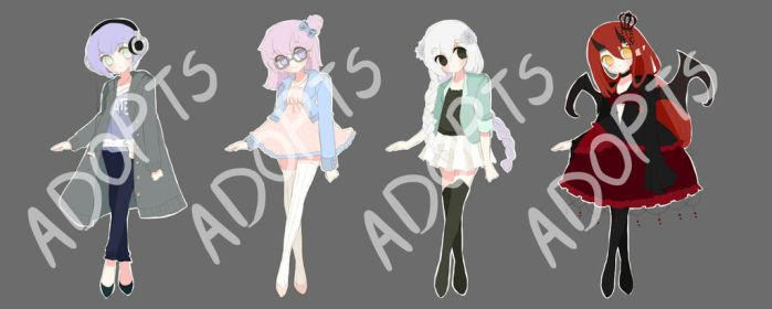 Adopts -OPEN- by Miss-Minu