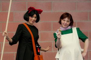 Kiki and mrs Osono by LadyGiselle