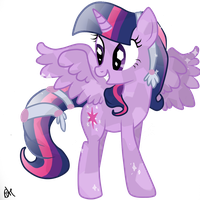 Twilight Sparkle Alicorn Crystal by OceanHorse00