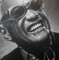 Ray Charles Portrait Painting by JonARTon