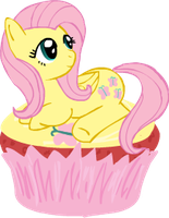 Fluttershy Cupcake by PhantasmicDream