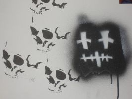 skull and logo by heely