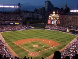 Camden Yards, Night by wishpaper