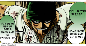 Zoro coloring, chapter 3 pg9 by AnnaHiwatari