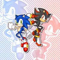Sonic and Shadow by sonic75619