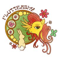 MLP - Art Nouveau: Fluttershy by FrauV8