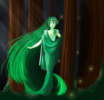 A Forest Spirit by HaloFall
