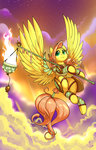 Pegasus Fluttershy, Keeper of the Flame by Dreatos