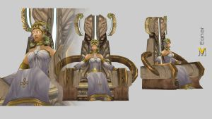 Eonar On Throne by Vaanel