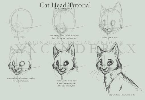 Tutorial for Cat Heads by XxCINDERxX