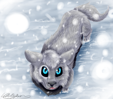 Let it Snow REDRAWN by dragonwolfgirl1234