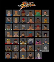 Street Fighter Characters by simpleguyfa