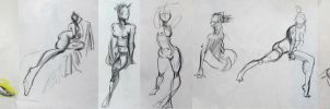 Life Drawing - September 2014 by Gizmoatwork