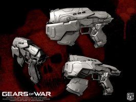 Gears of War COG Snub Pistol by YemYam