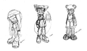 Gang concept sketches by Metal-2