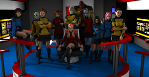The crew of the USS LOS LOBOS Redux-update by gx-9901