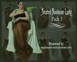 Seated Nouveau Lady PACK 3 by themuseslibrary