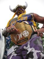 The Imposing Minnesota Vikings Fan by RaCzarina
