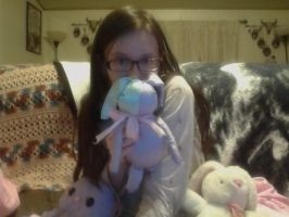 Mel and her bunny plushies ouo by Melita13