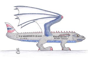 Boeing 737 Dragon by Scellanis