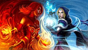 Lina Vs. Rylai by ejdc