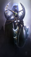 Maiev Shadowsong by Nyogtha-Art