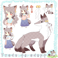 Fox Girl Adoptable [Closed] by Mousu