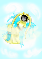 God Tier, Floating in the sky by Yomi-the-devil