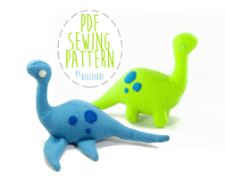 Loch Ness Monster and Dinosaur Patterns Available by BeeZee-Art