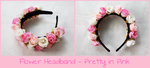 Flower Headband - Pretty in Pink by Feyon