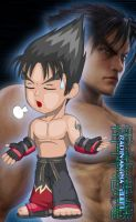 Chibi Jin Kazama Colored by TheALVINtaker