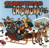 Christmas With the Chipmunks Vol. 1 CD cover by gleefulchibi