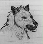 Little Angry Werewolf Sketch by Erinwolf1997