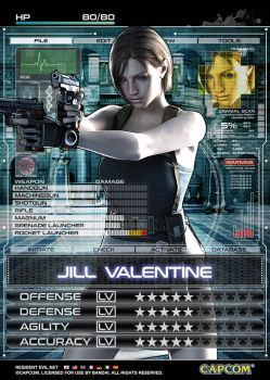 Jill Valentine Card by JaysonHuangDraws