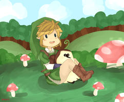 Link And His Kikwi Buddy by hikakomori