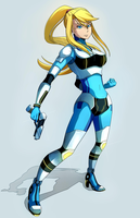 BooDestroyer89 Commission: Neo Zero Suit Samus by Kanokawa