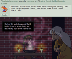 Ask Link - Magic Lady? by pocket-arsenal