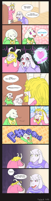 Baby Asriel Comic: First Words by Trelock