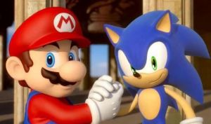 mario and sonic at the Olympic Games in London by MarioBross96