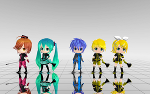 Chibi Love is War Pack DL by MMD-francis-co