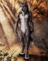 Protector by Dark Ice Wolf by Wolf-of-Samhain