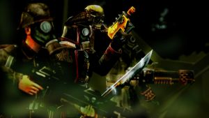 Marching through the fumes ::Warhammer 40k:: by guywiththesuitcase