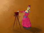 A Steam-Powered Robot and her Camera by takamo