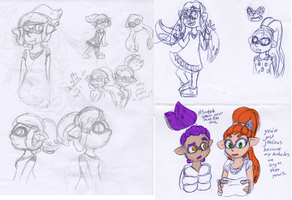 Squidsketches by Sixala