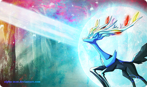 Xerneas Pokemon Card Play Mat! by Alpha-mon