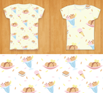 Repeating ice cream pattern with t-shirts by ErikaDavies