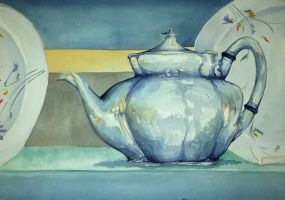 Antique Teapot by AsaRawr