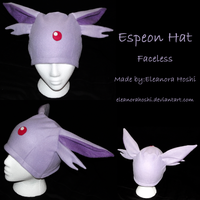Fleece Hat - Espeon - Faceless by EleanoraHoshi